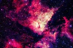 Галактика и межзвёздное облако в космосе Элементы этого изображения поставленные NASA стоковая фотография rf