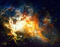 Галактика и межзвёздные облака в космическом пространстве Элементы этого изображения поставленные NASA стоковые изображения rf