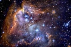Галактика и межзвёздные облака в космическом пространстве Элементы этого изображения поставленные NASA стоковая фотография rf