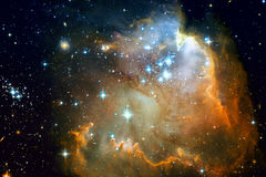 Галактика и межзвёздные облака в космическом пространстве Элементы этого изображения поставленные NASA стоковые фото