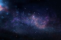 Галактика и nebula Звёздная текстура предпосылки космического пространства стоковое фото