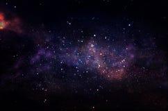 Галактика и nebula Звёздная текстура предпосылки космического пространства стоковое фото rf
