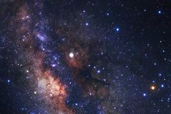 Галактика млечного пути с звездами и космос пылятся в вселенной Стоковое фото RF