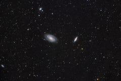 Галактика M81 и M82 Bode стоковое изображение