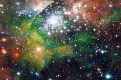 Галактика, starfield, межзвёздные облака, скопление звезд в глубоком космосе Искусство научной фантастики стоковые фотографии rf