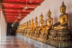 Галерея города buddhas Бангкока Таиланда стоковое изображение rf