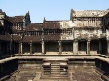 Галерея 1000 Buddhas в виске Angkor Wat стоковые изображения rf
