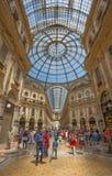 Галерея Vittorio Emanuele II, торговый центр около квадрата Duomo, милана, Италии стоковое изображение