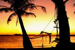 гамак пляжа Стоковые Изображения