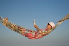 гамак пляжа Стоковое Фото