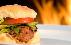 гамбургеры решетки барбекю Стоковое Изображение
