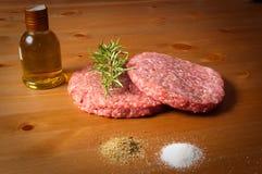 гамбургеры condiments Стоковая Фотография