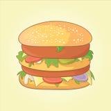 Гамбургер вектора Стоковые Изображения