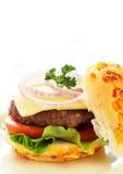гамбургер вкусный стоковое изображение