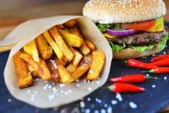 гамбургер вкусный Стоковая Фотография RF