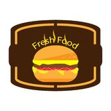 Гамбургер конспекта логотипа иллюстрации иллюстрация штока