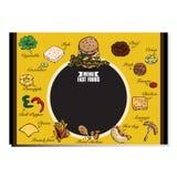 Гамбургер меню Стоковые Фото