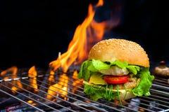 Гамбургер на барбекю Стоковые Изображения RF