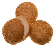 гамбургер плюшек Стоковые Фото