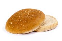 гамбургер плюшки изолировал Стоковая Фотография