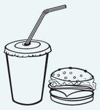 Гамбургер с колой бесплатная иллюстрация