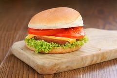 Гамбургер, фаст-фуд Стоковое фото RF