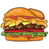 Гамбургер шаржа Стоковое Фото