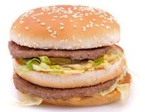 гамбургер cheeseburger вкусный сочный Стоковые Изображения RF