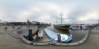 Гамбург взгляд улицы панорамы 360 градусов Стоковые Изображения