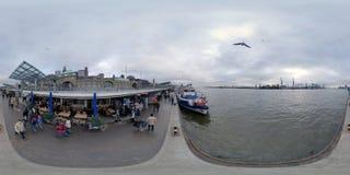 Гамбург взгляд улицы панорамы 360 градусов Стоковое Изображение