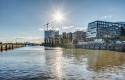 Гамбург Hafencity HDR Стоковое Изображение RF