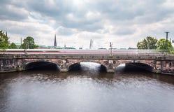 Гамбург Lombardsbruecke Стоковое фото RF