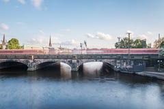 Гамбург Lombardsbruecke Стоковые Изображения RF
