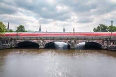Гамбург Lombardsbruecke Стоковая Фотография RF