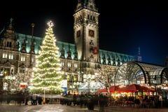 Гамбург Weihnachtsmarkt, Германия Стоковое Изображение RF
