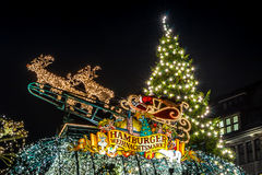 Гамбург Weihnachtsmarkt, Германия Стоковая Фотография