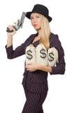 Гангстер женщины с оружием Стоковое фото RF