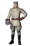 Гангстер шаржа с оружием в 3D Стоковое фото RF