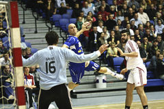 Гандбол AaB - Mors-Thy гандбол Стоковая Фотография RF