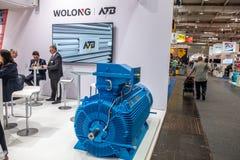 Ганновер, Германия - 2-ое апреля 2019: Wolong самые новые нововведения на ЯРМАРКЕ ГАННОВЕР стоковая фотография rf