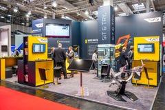 Ганновер, Германия - 2-ое апреля 2019: WSCAD показывает новые нововведения на Ганновер Messe стоковое фото