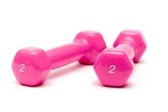 гантели pink 2 Стоковые Фото