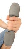 Гантель поднятая рукой человека Стоковые Изображения RF