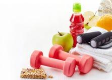 Гантели оборудования фитнеса Стоковые Фото