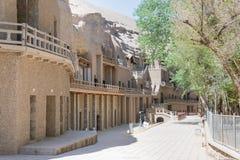 ГАНЬСУ, КИТАЙ - 30-ое апреля 2015: Пещеры Mogao известное историческое место Стоковое фото RF