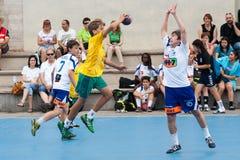 Гандбол 2013 GCUP. Granollers. Стоковая Фотография