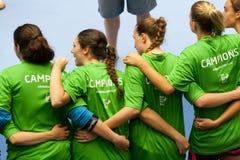 Гандбол 2013 GCUP. Granollers. Стоковое Фото