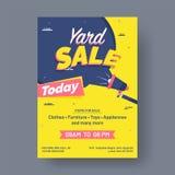 Гараж или плакат или banne объявления события распродажи printable иллюстрация штока