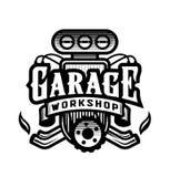 Гараж, мастерская, логотип автомобиля, эмблема r бесплатная иллюстрация