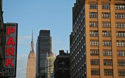 гараж новый паркуя york Стоковое фото RF